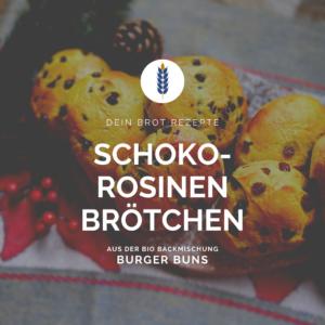 Schoko und Rosinenbrötchen